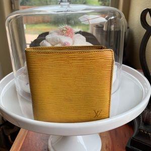 Authentic Yellow Epi Louis Vuitton Bifold Wallet